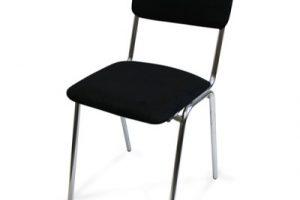 Stoppad svart stol